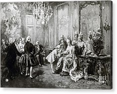 Wolfgang Amadeus Mozart With Madame Acrylic Print by Science Source