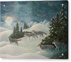Wolfspirit Acrylic Print by Bernadette Wulf