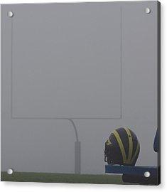 Wolverine Helmet In Heavy Morning Fog Acrylic Print