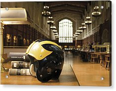 Wolverine Helmet In Law Library Acrylic Print