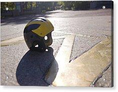 Wolverine Helmet On The Diag Acrylic Print
