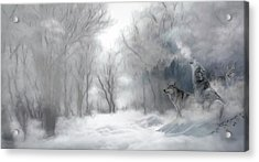 Wolves In The Mist Acrylic Print
