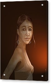 Acrylic Print featuring the digital art Woman 10 by Kerry Beverly