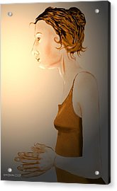 Acrylic Print featuring the digital art Woman 15 by Kerry Beverly