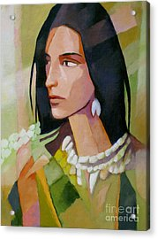 Woman 2006 Acrylic Print by Lutz Baar