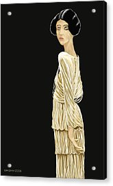 Acrylic Print featuring the digital art Woman 36 by Kerry Beverly