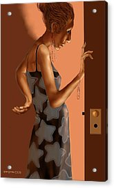 Acrylic Print featuring the digital art Woman 37 by Kerry Beverly