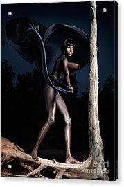 Woman And Dead Tree Acrylic Print by Oleksiy Maksymenko