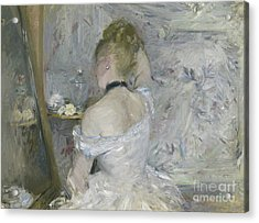 Woman At Her Toilette Acrylic Print by Berthe Morisot