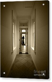 Woman At The Door Acrylic Print