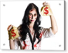 Woman Attacked And Robbed Acrylic Print by Jorgo Photography - Wall Art Gallery