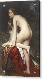 Woman Bathing Acrylic Print by  William Adolphe Bouguereau