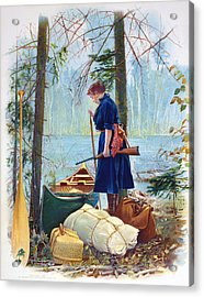 Woman Camper Cropped Acrylic Print