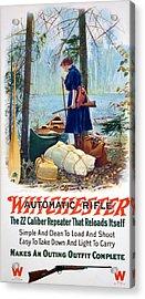 Woman Camper  Acrylic Print