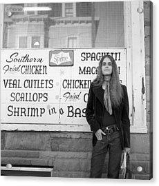 Woman Contemplates Scallops, 1972 Acrylic Print