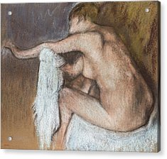 Woman Drying Her Arm Acrylic Print by Edgar Degas