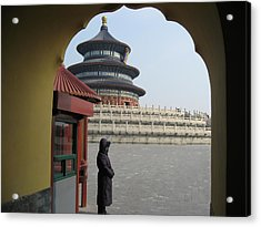 Woman Guarding The Temple Of Heaven Acrylic Print by James Lukashenko