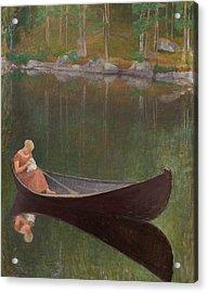 Woman In A Boat Acrylic Print