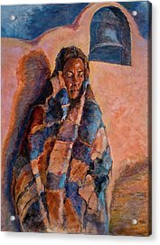 Woman In A Serape Acrylic Print
