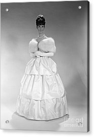 Woman In Ball Gown, C. 1960s Acrylic Print by H. Armstrong Roberts/ClassicStock