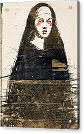 Woman In Black Acrylic Print by H James Hoff
