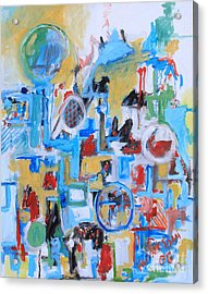 Woman In Blue Acrylic Print by Michael Henderson