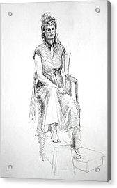 Woman In Dress Acrylic Print by Mark Johnson