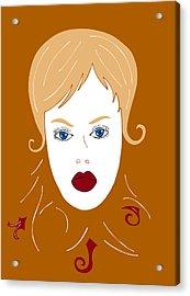 Woman In Fashion Acrylic Print