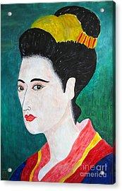 Woman In Kyoto By Taikan Acrylic Print by Taikan Nishimoto