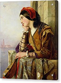 Woman In Love Acrylic Print by Henry Nelson O Neil