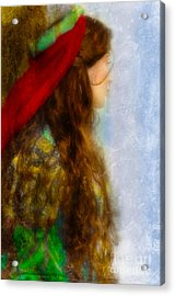 Woman In Medieval Gown Acrylic Print by Jill Battaglia