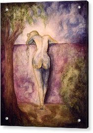 Woman In The Garden 2 Acrylic Print by Halle Treanor