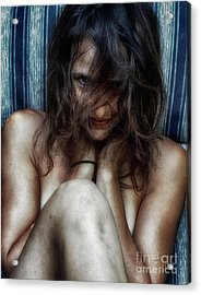 Woman In Waiting Acrylic Print by Steven Digman