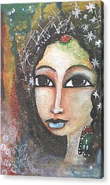 Woman - Indian Acrylic Print