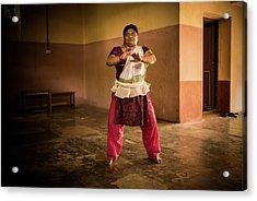 Woman Kathakali Acrylic Print