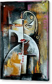 Acrylic Print featuring the painting Woman by Kim Gauge