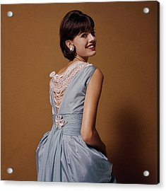 Woman Looks Over Her Shoulder Acrylic Print by Bert Stern