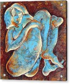Woman Meditating Acrylic Print by Sara Zimmerman