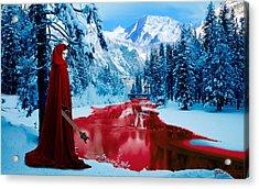 Woman Of Dark Desires Acrylic Print by John Paul Blanchette