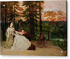 Woman Of Frankfurt Acrylic Print by Gustave Courbet