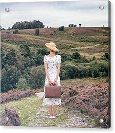 Woman On A Hill Acrylic Print