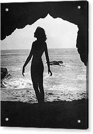 Woman On Beach Acrylic Print by Sasha
