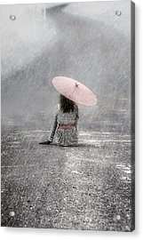 Woman On The Street Acrylic Print by Joana Kruse
