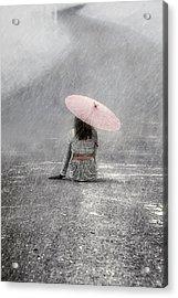 Woman On The Street Acrylic Print
