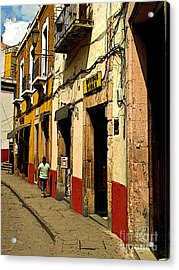 Woman On The Street Acrylic Print by Mexicolors Art Photography
