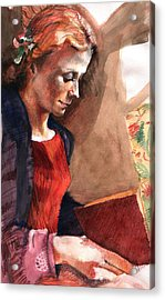 Woman Reading Acrylic Print