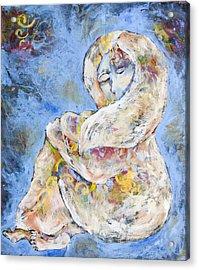 Woman Seeking Solace Acrylic Print by Sara Zimmerman