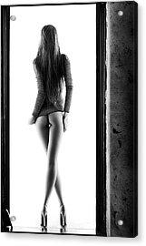 Woman Standing In Doorway Acrylic Print