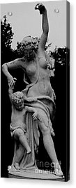 Acrylic Print featuring the painting Woman Statue by Eric  Schiabor