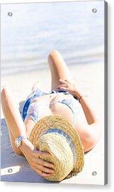 Woman Sunbathing Acrylic Print